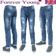 Distressed Regular Stretch Jeans for Men