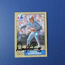 Dennis Denny Martinez Montreal Expos Orioles signed auto 1987 O-Pee-Chee  # 252