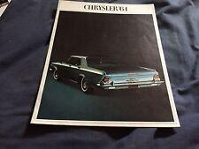 1964 Chrysler New Yorker 300 Newport Full line Color Brochure Prospekt