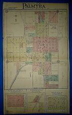 1913 CITY of  PALMYRA - WARREN, MISSOURI MAP Ancestry Genealogy Family History