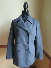 EXPRESS FITTED GRAY WOOL PEA COAT - SIZE 7/8