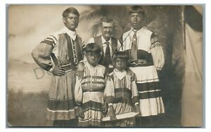 RPPC Native American Indians Traditional Garb SEMINOLE? FL Real Photo Postcard