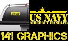 US Navy Aircraft Handler ABH Aircraft Carrier Flight Deck Veteran Car Decal