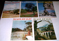 5 Vintage RAILROAD  Magazines THE MAGAZINE OF REAL TRAINS From 1969 and 1970