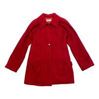 Yves Saint Laurent Women's Wool Jacket | Vintage YSL High End Designer Red VTG