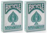 Two Decks of Bicycle Fashion Teal Playing Cards - Brand New Sealed Decks - USPCC