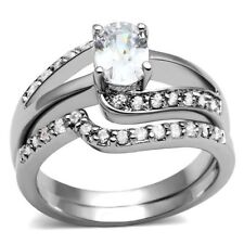 Stainless Steel Engagement Oval Costume Rings