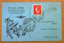 2e proefvlucht KLM naar Lissabon januari 1946 BC58