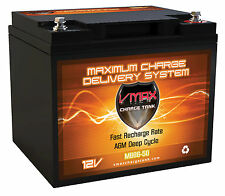 VMAX MB86-50 Sevylor Electric Trolling Motor 12V 50AH AGM DEEP CYCLE BATTERY
