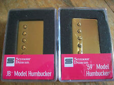 Seymour Duncan SH-4 JB and SH-1n 4c 59 Model Neck Humbucker Pickup Set GOLD