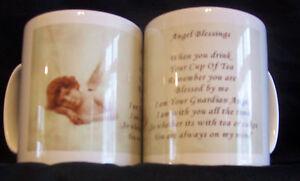 PERSONALISED GUARDIAN ANGEL & CHERUB MUG, ANGEL POEM MUGS *** UNIQUE DESIGN**