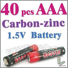 40pzas AAA zinc-carbono Baterías uso individual R03P 1212 UM4