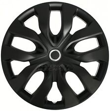 "17"" Black Set of 4 Wheel Covers Full Rim Hub Caps fit R17 Tire & Steel Wheels"