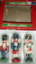 Vintage Holiday Christmas Wax Nutcracker Toy Soldier Candles — Sealed
