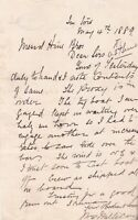 Capt. Millican 1889 to Hine Brothers Shipping Tug Boat Wait Letter Ref 37016