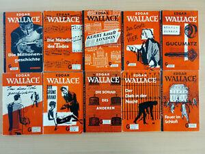 10 Taschenbücher - Edgar Wallace - Goldmann Verlag