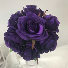 SILK WEDDING BOUQUET ROSE PRE MADE POSY WEDDINGS FLOWER ROSES ARTIFICIAL FLOWERS