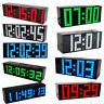 110-220V LED Digital Large Big Jumbo Snooze Wall Table Desk Calendar Alarm Clock