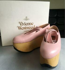 VIVIENNE WESTWOOD AUTH ROCKING HORSE BALLERINA SHOES PINK UK 5 USED F/S