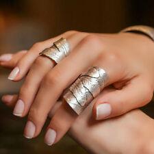 Boho Antique Silver Leaf Elegant Statement Fashion Large Unique Adjustable Ring
