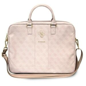 """Genuine Guess 4G Up Town Computer Bag 16"""" Pink for laptop"""