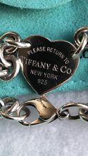 Tiffany Sterling Silver Return to Tiffany heart bracelet.