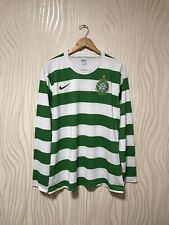 CELTIC 2007 2008 HOME FOOTBALL SHIRT JERSEY LONG SLEEVE PLAYER ISSUE NIKE