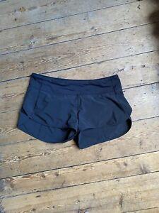 LULULEMON black Run Shorts Size UK 12