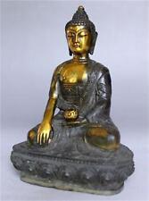 Collectable Tibet Antique copper Buddhism Buddha Sakyamuni Buddha Statue