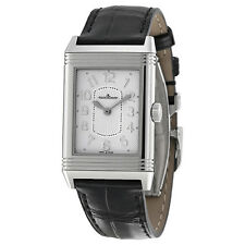 Jaeger LeCoultre Grande Reverso Ultra Thin White Dial Black Leather Ladies
