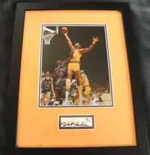 WILT CHAMBERLAIN AUTOGRAPH LOS ANGELES LAKERS GLOBAL AUTHENTICS AUTO RARE