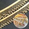 1yd Vintage Golden Pearl Beaded Lace Edge Trim Ribbon Wedding Applique Sew Craft