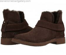 UGG® AUSTRALIA MCKAY BROWN SHEEPSKIN ANKLE BOOTS UK 5.5 EUR 38 USA 7 RRP £150