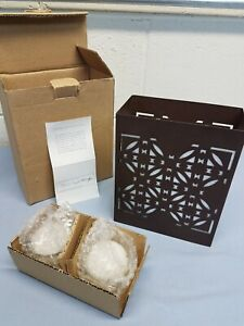 Frank Lloyd Wright Luxfer Prism Luminary Metal Candle Holder Wright Foundation