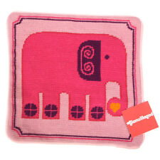 New JONATHAN ADLER Needlepoint Pillow Case Pink Elephant 12 x 12