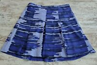 Womens Lane Bryant Pleated Skirt Size 18 Below The Knee Purple Blue