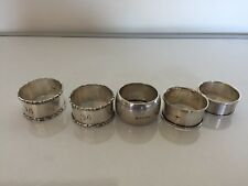 I PAIR & 3 STERLING SILVER NAPKIN RINGS (VARIOUS HALLMARKS AND MAKERS) 89Grams