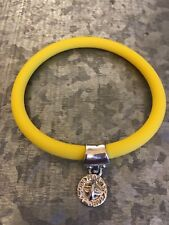 NWOT Marc Jacobs Silicone Rubber Bracelet W Charm Yellow