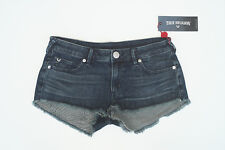 NWT TRUE RELIGION JOEY CUT OFF 27/28 Flaps Hot Mini Denim Short Shorts
