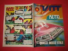 SETTIMANALE VITT N°37-SETTEMBRE 1969  INSERTO VITT AVVENTURA N°37 COCHI RENAT0