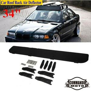 "Universal Car Roof Rack Air Deflector 34"" Wind Fairing For Chevrolet Ford Toyota"