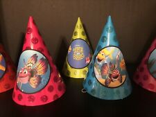 8 Splash & Bubbles Fish Birthday Party Paper Glitter Hats