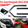 4pcs/set Window Visor Deflector Rain Guard Shade Fit For Jeep Renegade 2015-2020
