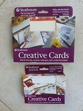 Strathmore Creative Cards 10 Blank 5x7 105-420 & 10 Announcement 3 x 5 105-11