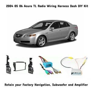 2004 05 06 Acura TL Aftermarket Radio Wiring Dash Kit w/Sub Amp & Nav Retention