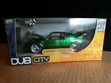 JADA 1987 Buick Grand National Dub City 1:24 Scale Diecast Green 53017 Car GNX