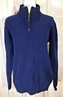 Women's Columbia 1/4 Zip Pull Over Sweater Size Large Blue Heather