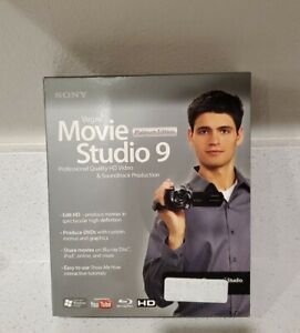 Sony Vegas Movie Studio 9 Platinum Edition HD Video YouTube Blu-Ray NEW