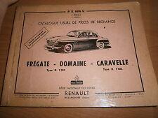 Renault FREGATE - DOMAINE - CARAVELLE R1102 R1103 : catalogue pièces PR606U-3