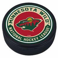 Minnesota Wild 3D Textured Striped Souvenir Hockey Puck
